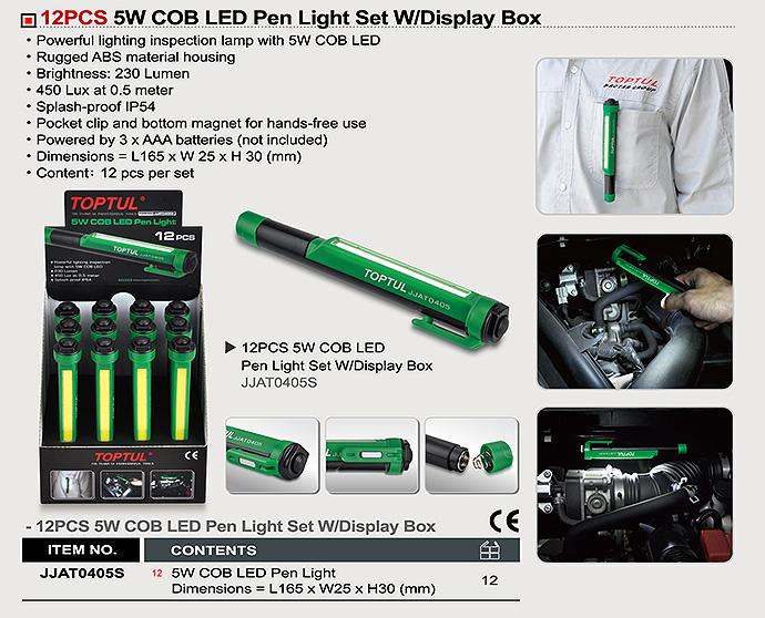 LED Pen Light Set W/Display Box