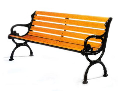 nineteenth century Victorian park bench